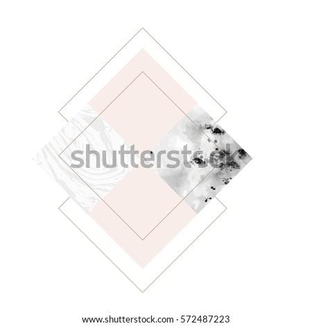 geometric art print  abstract