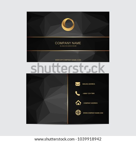 Geometric background business card template. Flat design.