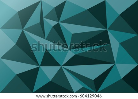 Geometric background, origami style, blue colored triangle. Vector Illustration 10 eps