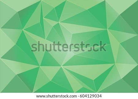 Geometric background, origami style, lime colored triangle. Vector Illustration 10 eps