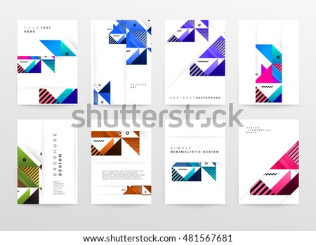 Geometric background. Template for covers, flyers, banners, posters and placards. Eps10 vector illustration