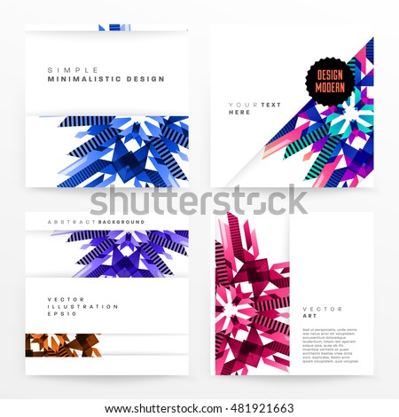 Geometric background. Template for covers, flyers, banners, posters and placards. Eps10 vector illustration - Shutterstock ID 481921663
