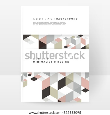 Geometric background Template for covers, flyers, banners, posters and placards, may be used for presentations and books, EPS10 vector illustration