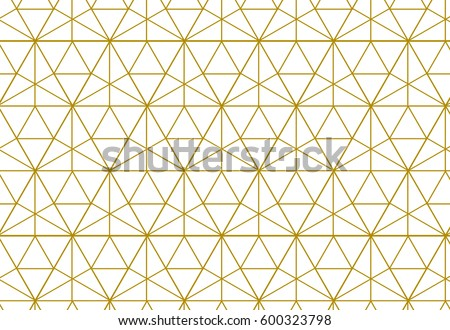 Geometric background with rhombus and nodes. Abstract geometric pattern. Golden texture.