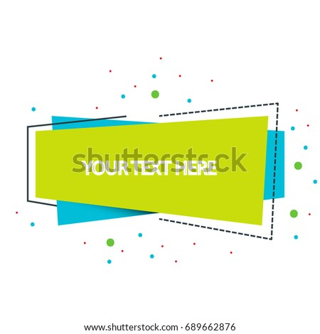 Geometric Banner with Flat Style. For poster or social media campaign.