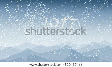 geometric blue abstract winter