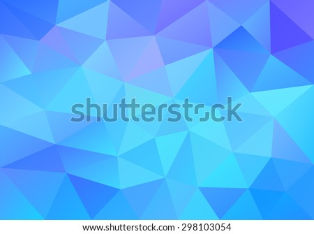 geometric blue background with
