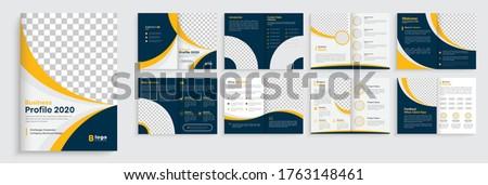 Geometric Brochure template design, Brochure template layout design,minimal business brochure design,annual report minimal company profile design, editable brochure template layout.