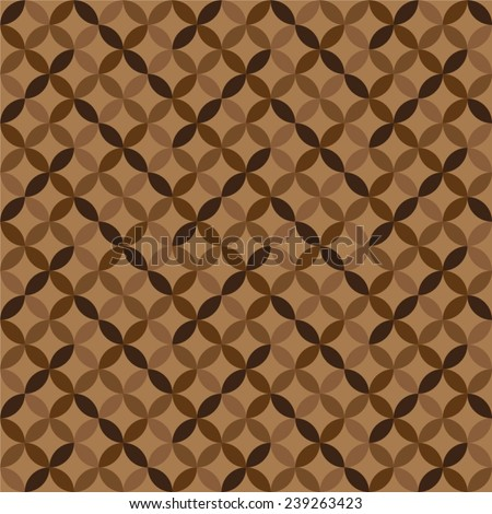 Geometric brown circle patterns. Colorful abstract backgrounds. Vector illustration EPS 10.