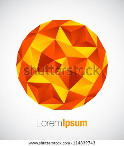 Geometric business symbol in orange color