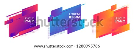 geometric colorful abstract shapes badges background. for banner web, app, poster vector #1280995786