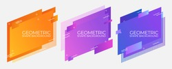 geometric colorful abstract shapes badges background. for banner web, app, poster vector template