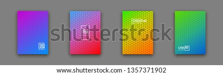 geometric colorful abstract shapes set badges background for banner web, app, poster. Trendy minimal modern design isolated white background. Abstract geometric shapes, lines patterns composition set. #1357371902