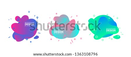 geometric colorful abstract shapes set badges background for banner web, app, poster. Trendy minimal modern design isolated white background. Abstract geometric shapes, lines patterns composition set. #1363108796