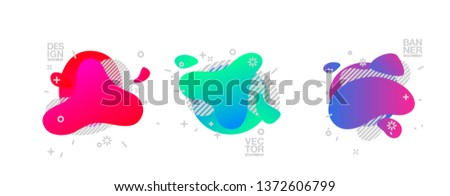 geometric colorful abstract shapes set badges background for banner web, app, poster. Trendy minimal modern design isolated white background. Abstract geometric shapes, lines patterns composition set. #1372606799