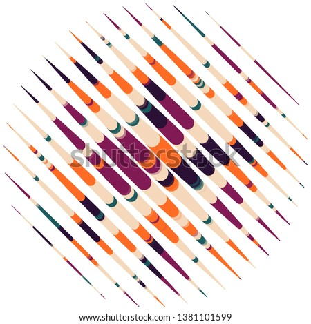 Geometric colorful vector background. Abstract halftone illustration pattern. Vintage texture