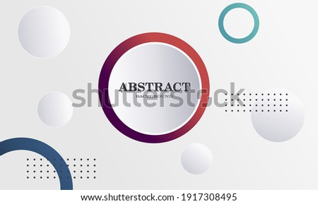 Geometric composition designs with rounded shapes are perfect for templates, brochures, covers, web background banners, etc.