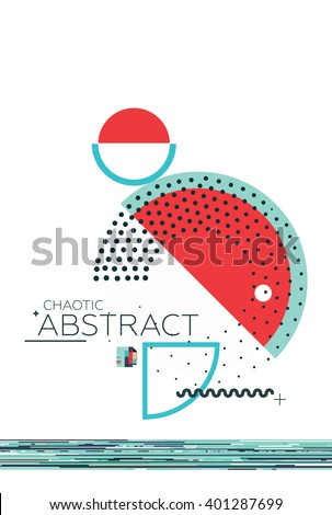 Geometric composition simple shapes Style Abstract art Suprematism Constructivism Futurism Minimalism. The design element is isolated suitable for prints posters magazine covers