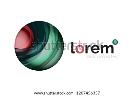 Geometric convergence vector business icon template #1207456357