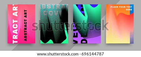 Geometric covers template design | Futuristic patterns | Vector #696144787