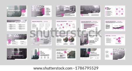 Geometric Crimson Presentation Element Templates. Vector infographics. For use in Presentation, Flyer and Leaflet, SEO, Marketing, Webinar Landing Page Template, Website Design, Banner.