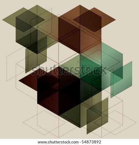 geometric cube background