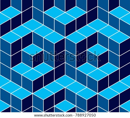 geometric cubes abstract