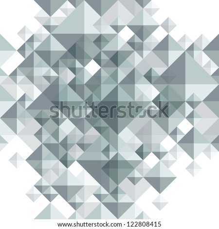 Geometric 3d seamless background, vector eps 8.