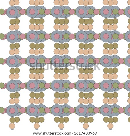 Geometric decoration. Geometric abstract pattern. Circles with a cross. Blue pink green colors. Boho style. Indian style. Foreign style