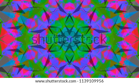 Geometric design, Mosaic of a vector kaleidoscope, abstract Mosaic Background, colorful Futuristic Background, geometric Triangular Pattern. Mosaic texture. Stained glass effect. EPS 10 Vector