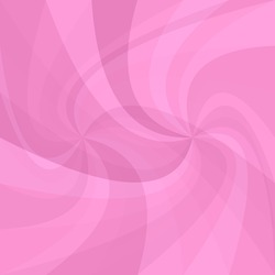 Geometric double spiral background - vector design from twisted rays in pink tones