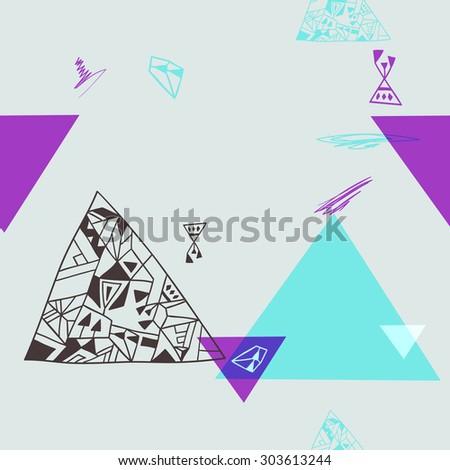 geometric elements. seamless background