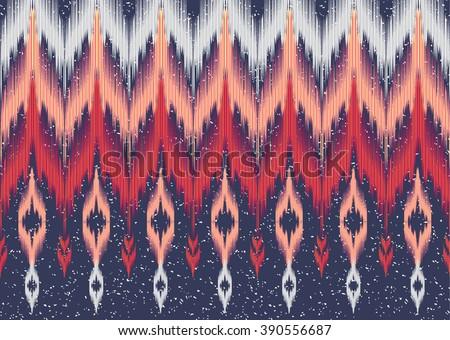 Geometric ethnic oriental ikat seamless pattern traditional Design for background,carpet,wallpaper,clothing,wrapping,Batik,fabric,Vector illustration.embroidery style.