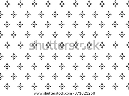 Geometric ethnic pattern embroidery design for background or wallpaper and clothing.