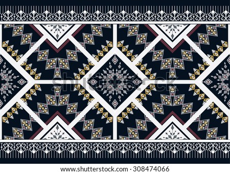 Geometric Ethnic pattern seamles design for background or wallpaper.