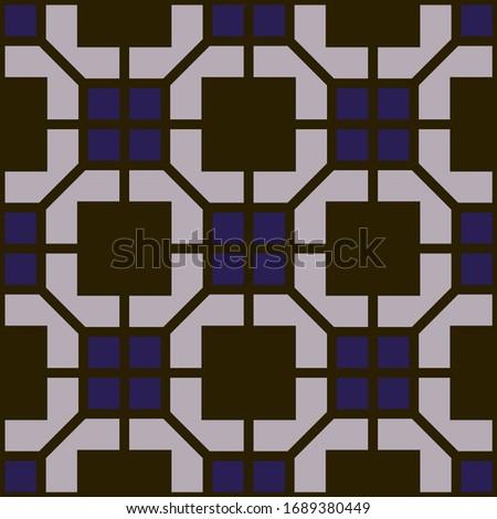 Geometric fashion seamless pattern, textile background.