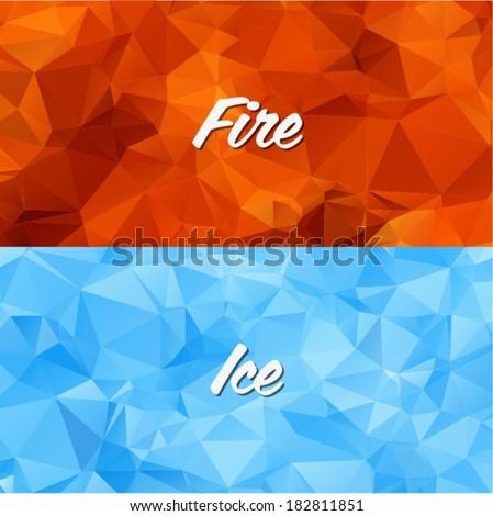 geometric fire and ice