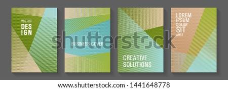 Geometric flyer background vector templates. Advanced technological concept. Creative leaflet backdrops. Marketing catalog creative mockups. Stationery notebook covers design set.