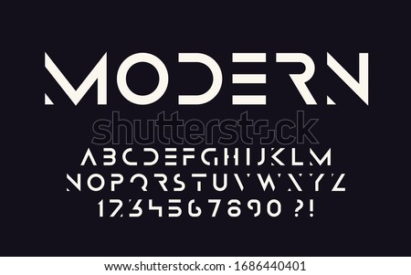 Geometric font Bold letters and numbers Modern sport design Super hero abc Vector stencil alphabet