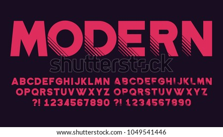geometric font with shadow