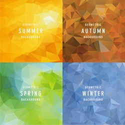 Geometric four Seasons Backgrounds
