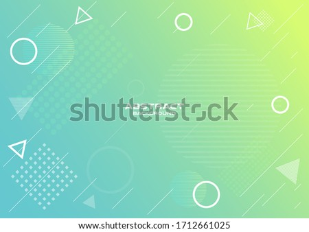 Geometric gradien abstract  background ,Template Design , Vector and illustration Stock fotó ©
