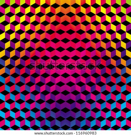 Geometric Gradient Color Background - stock vector
