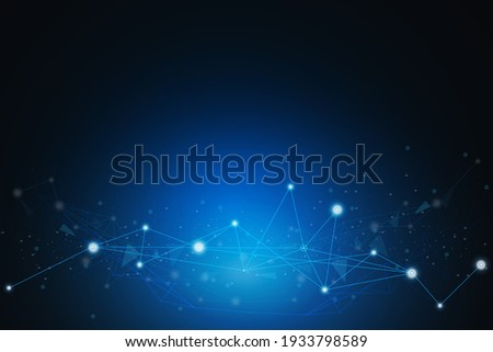 Geometric Graphic Connection Background. Lines Dots Vector Illustration. Futuristic Digital Network Concept
