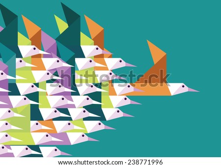 geometric group of birds....
