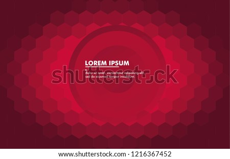 Geometric hexagonal dark red or purple background. Modern, dynamic and futuristic background. Abstract editable background template