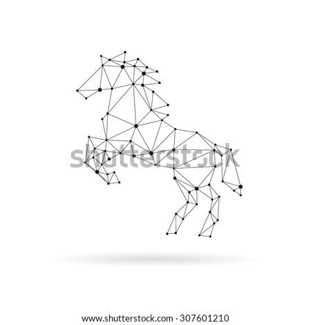 geometric horse design