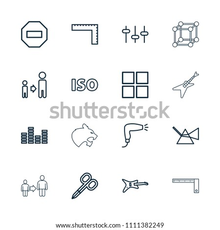 geometric icon collection of