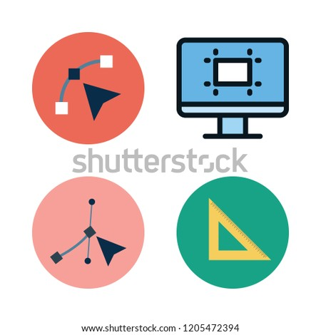 geometric icon set. vector set about set square, technological and vector icons set.