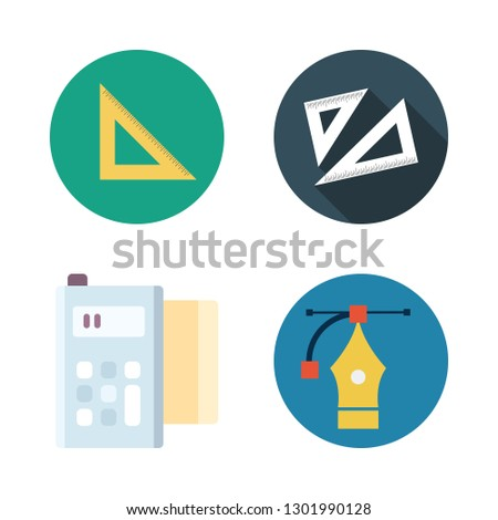 geometric icon set. vector set about technology, vector and set square icons set.